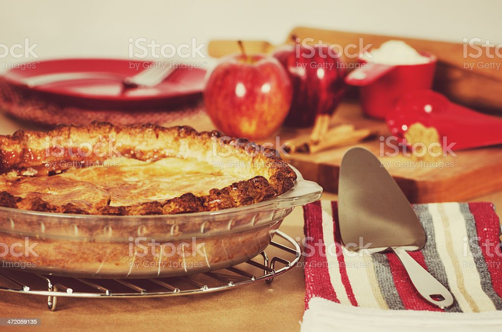 Old fashiond Apple Pie stock photo