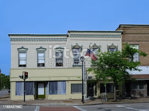 old fashioned American small town main street architecture