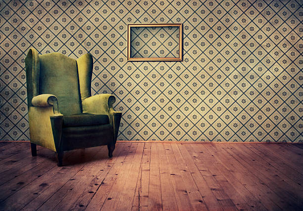 old fashioned sessel - sessel retro stock-fotos und bilder
