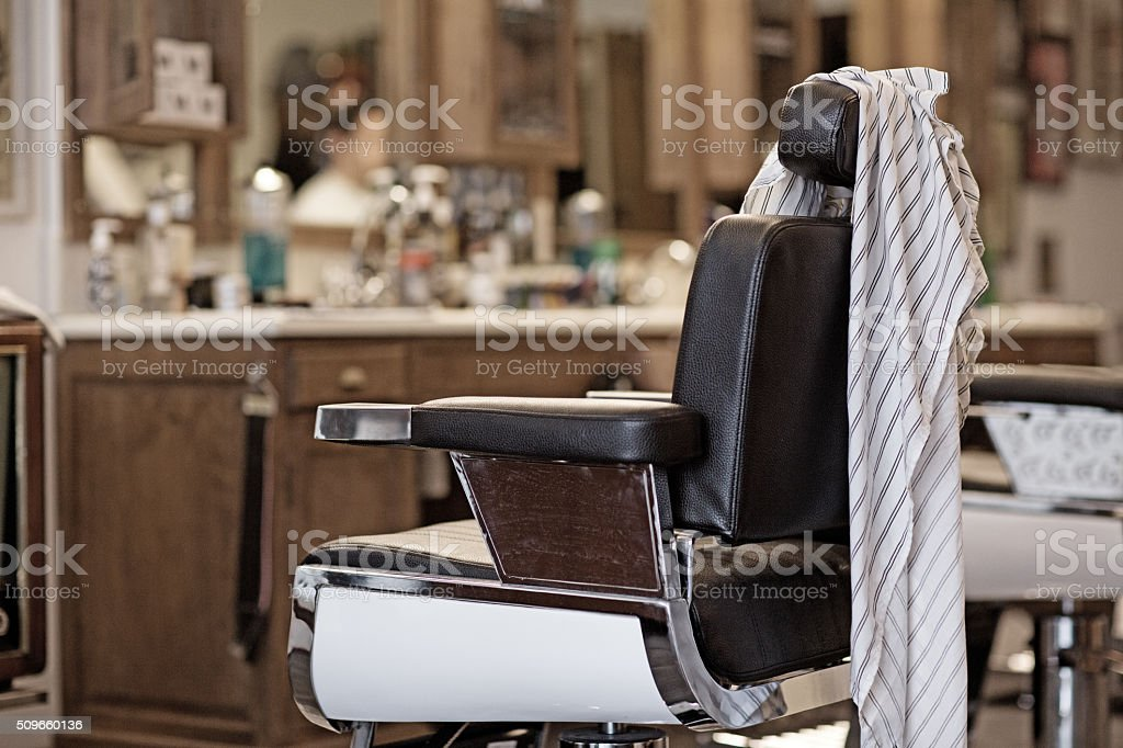 old fashioned Barber shop stock photo