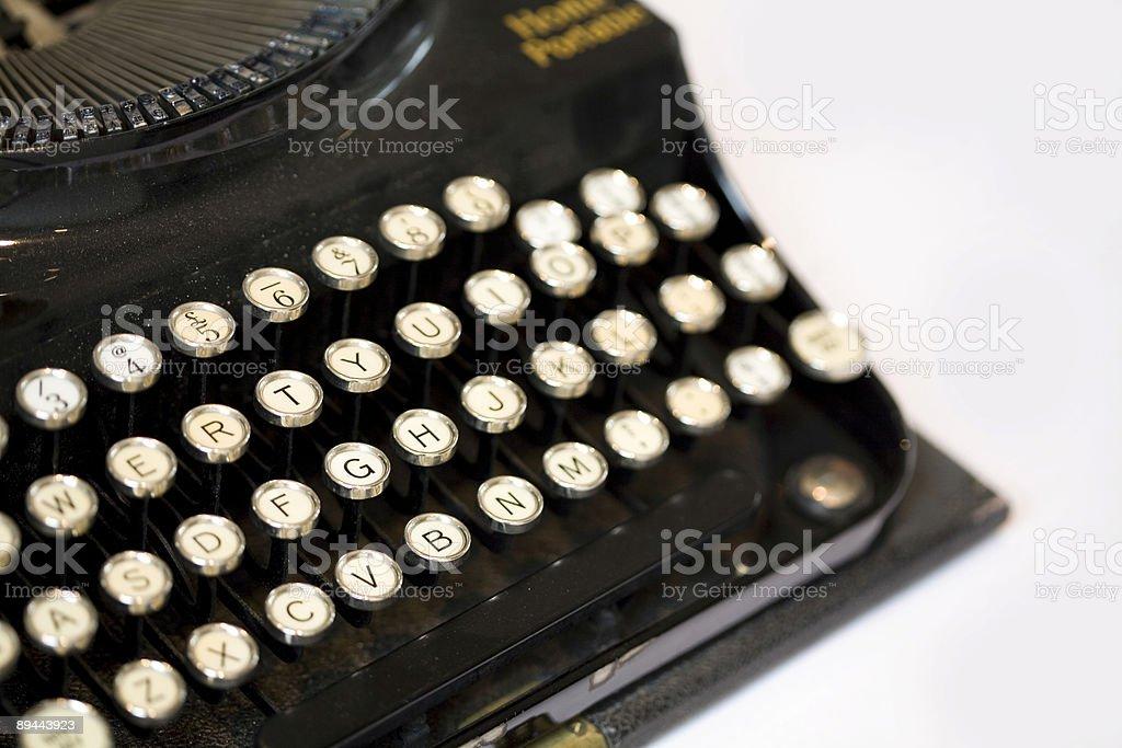 Old fashioned black typewriter 免版稅 stock photo
