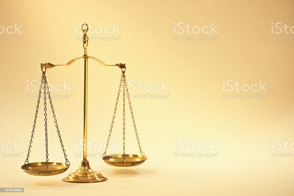 Old Fashioned Brass Scale royalty-free stock photo