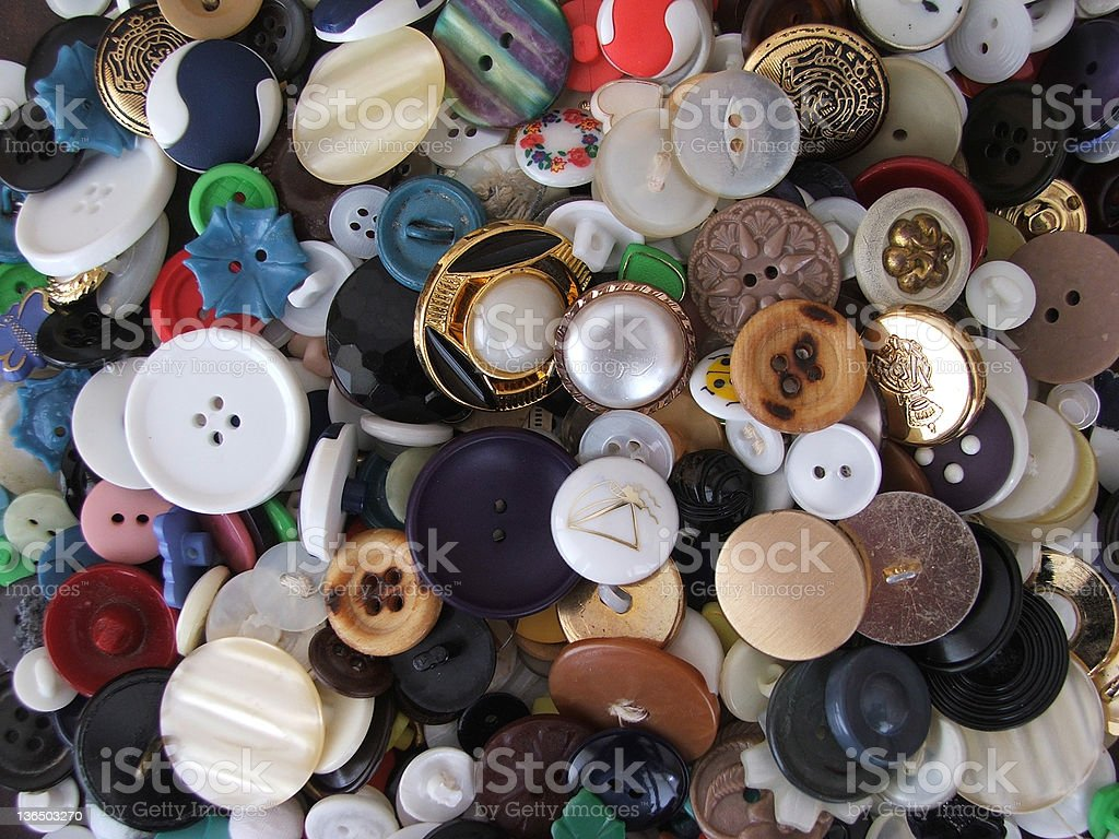 Old fashioned buttons stock photo