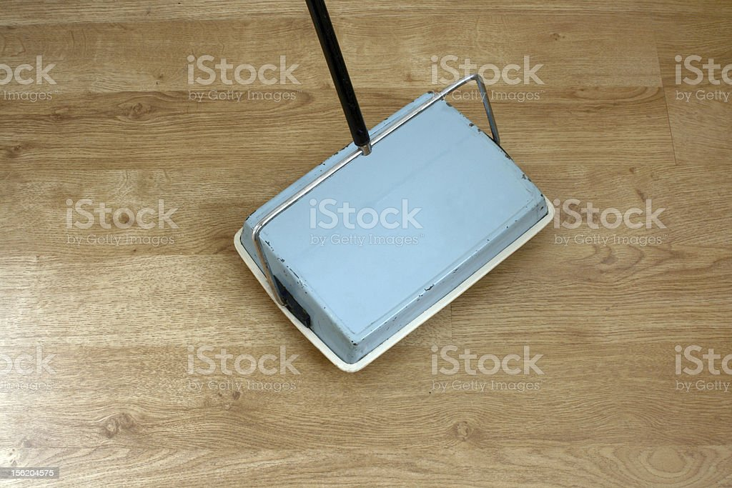 Old fashioned carpet sweeper stock photo