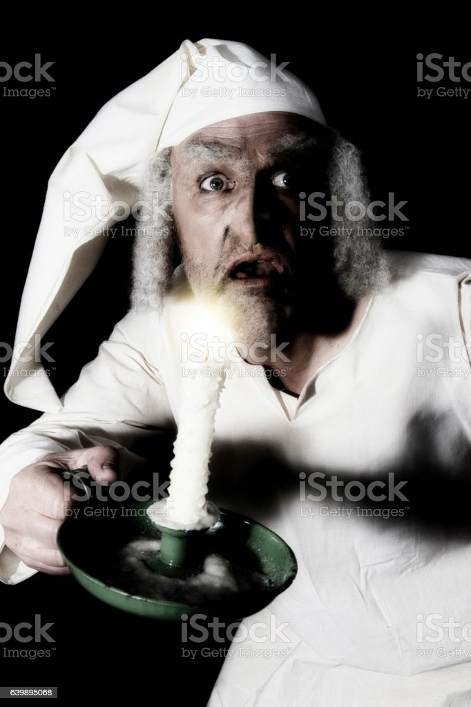 old fashioned character in nightshirt - Photo
