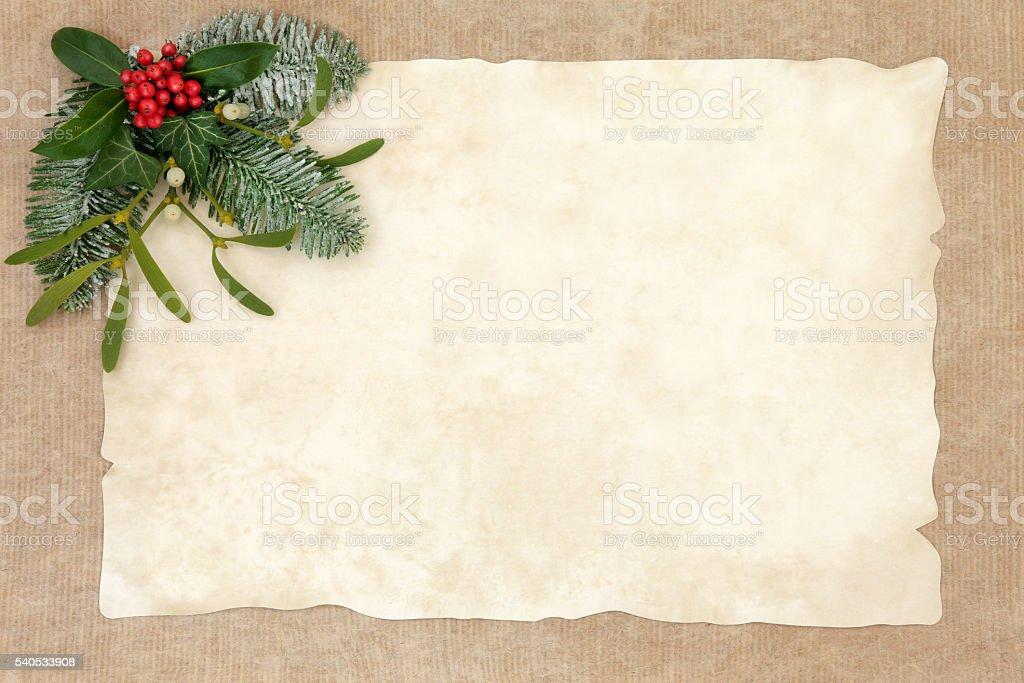Old Fashioned Christmas Background stock photo