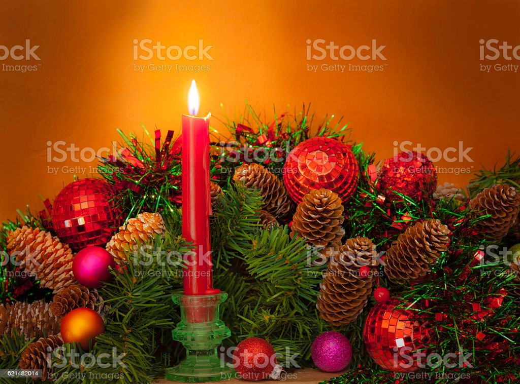 old fashioned christmas decorations p royalty free stock photo
