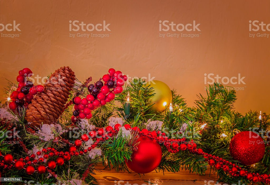 Old Fashioned Christmas Pictures.Old Fashioned Christmas Decorations Stock Photo Download Image Now