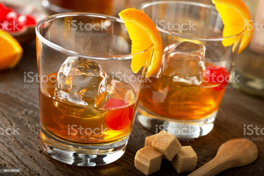 Old Fashioned Cocktail foto stock royalty-free