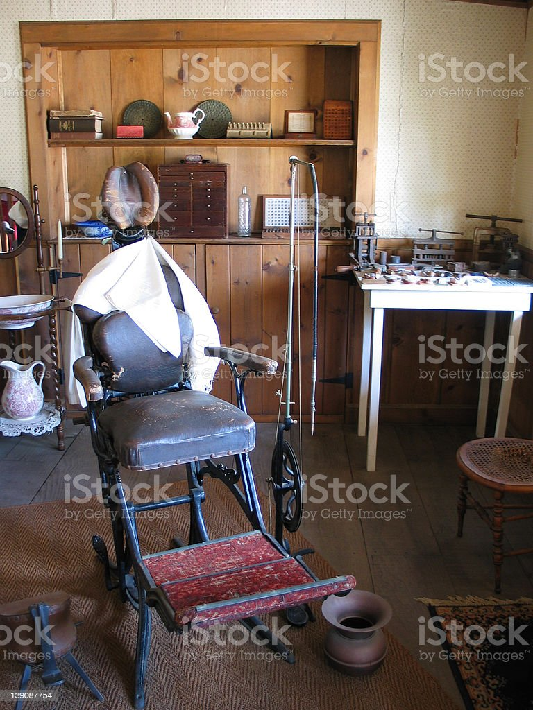 Old Fashioned Dentist Office stock photo