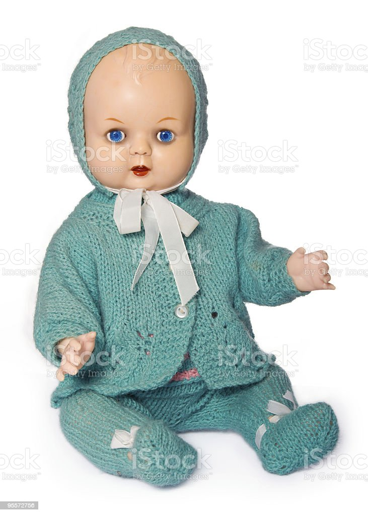 Old fashioned doll stock photo