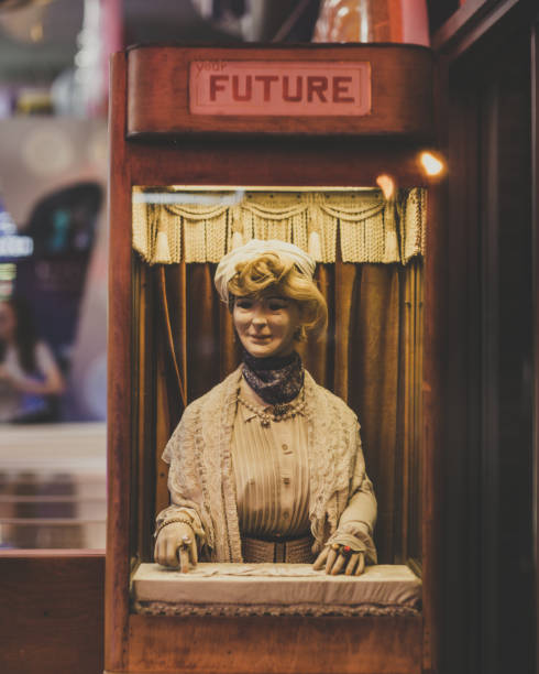 Old Fashioned Fortune Telling Machine stock photo