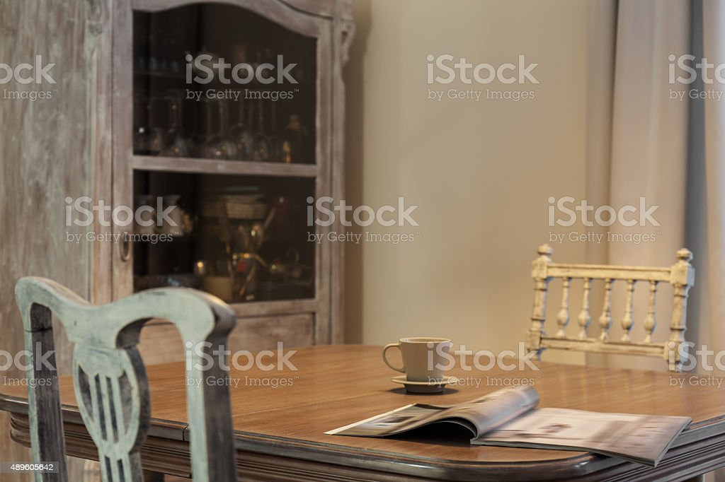 Old fashioned furniture stock photo