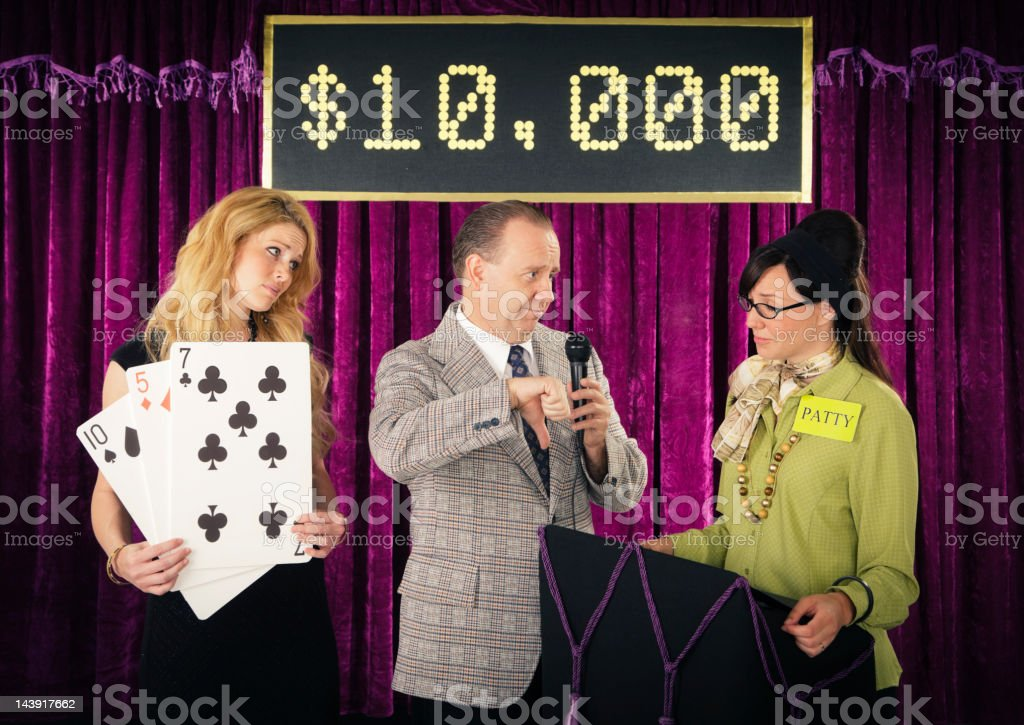 Old Fashioned Game Show royalty-free stock photo