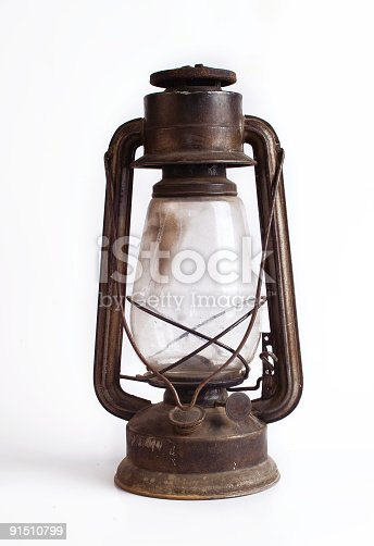 istock Old Fashioned Gas Lamp 91510799
