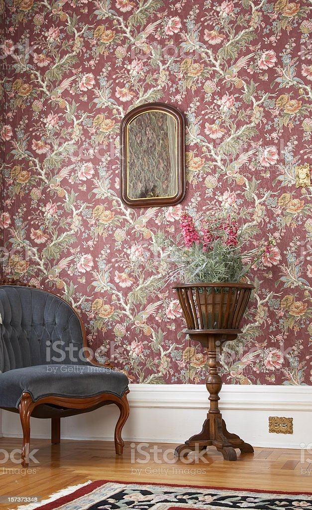 Old fashioned house interior royalty-free stock photo