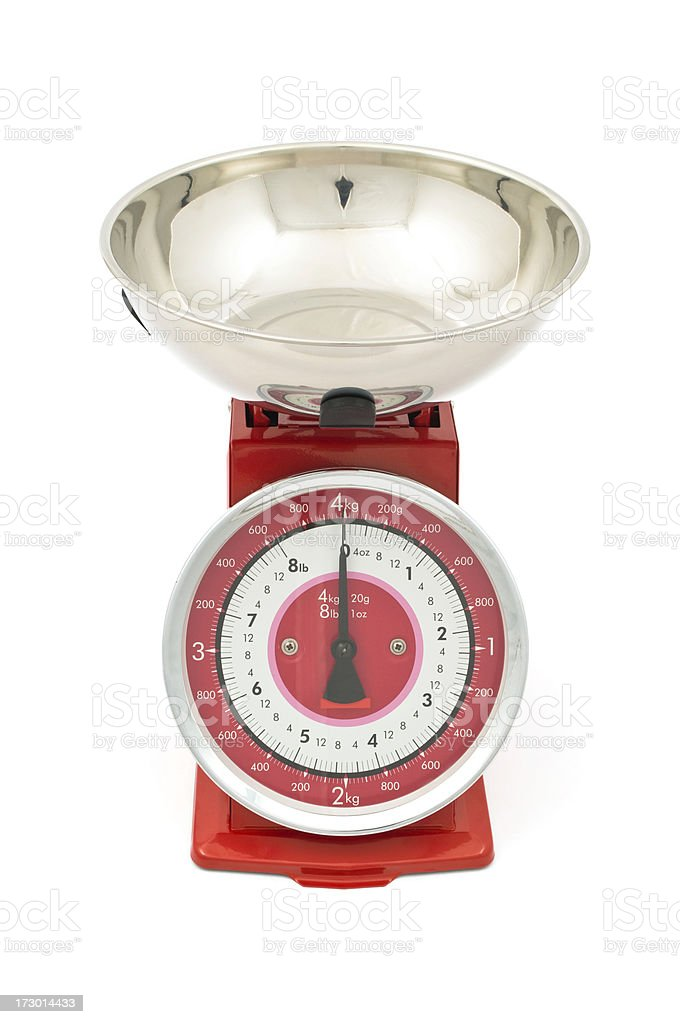 Old fashioned kitchen scale royalty-free stock photo