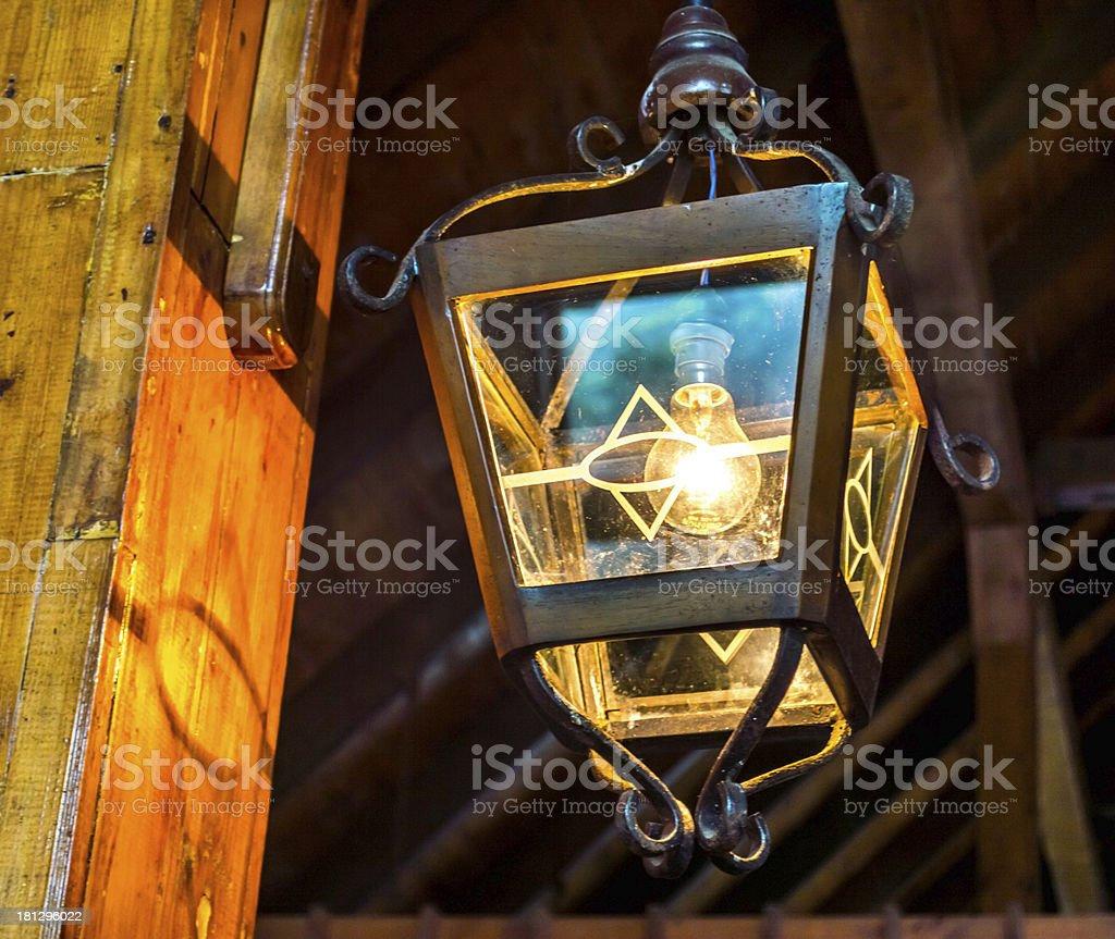 old fashioned  light wall lamp royalty-free stock photo
