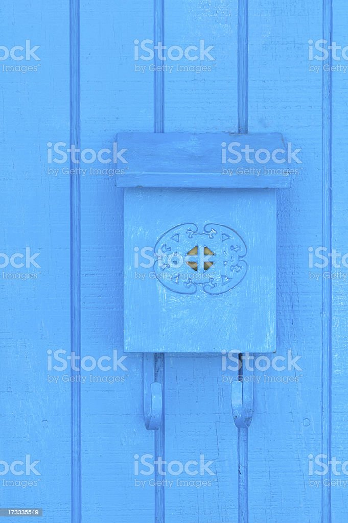 Old Fashioned Mail Box on Wall royalty-free stock photo