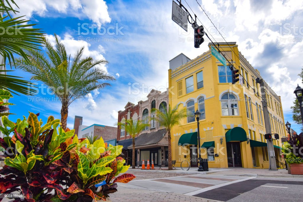 Old Fashioned Main Street Building Exteriors stock photo