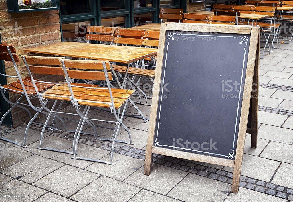 Ancienne Tableau de menu - Photo