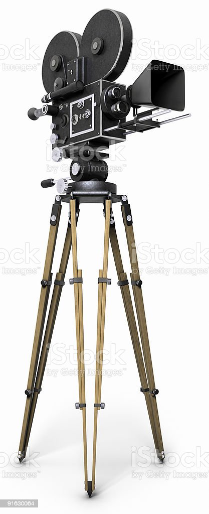Old Fashioned Movie Camera stock photo