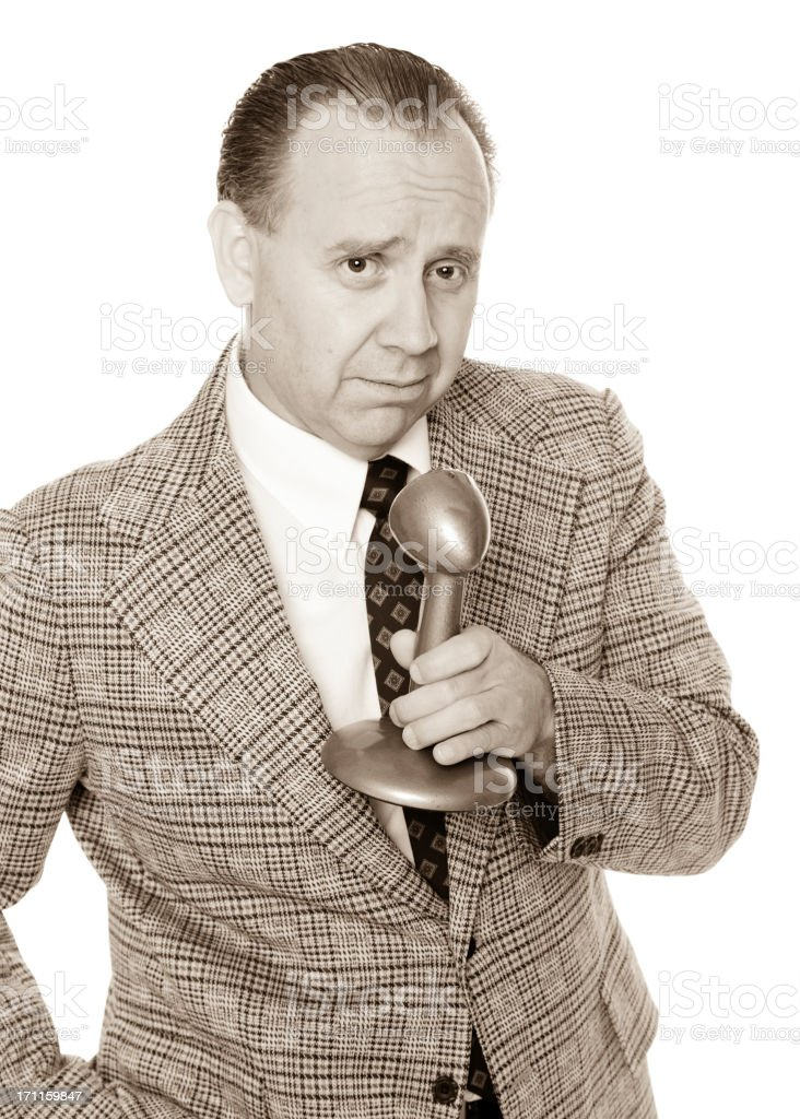 Old Fashioned News Anchorman royalty-free stock photo