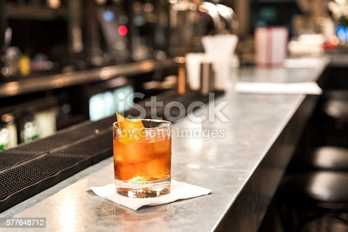 istock Old Fashioned on The Bar 577648712