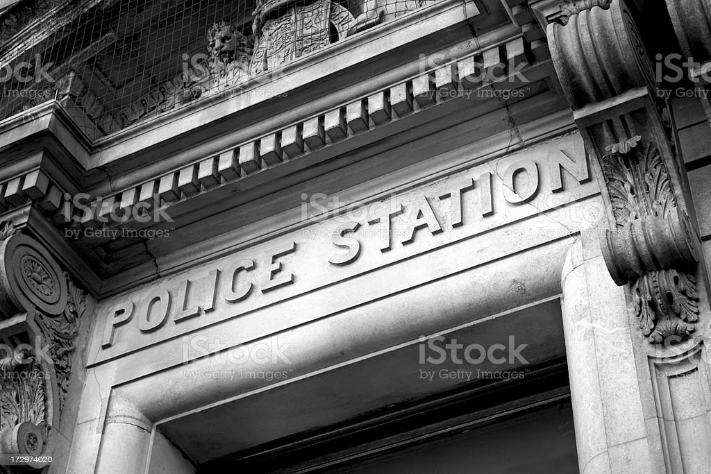 Old fashioned police station stock photo