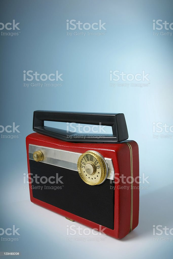old fashioned portable radio royalty-free stock photo