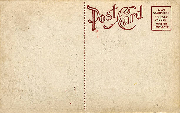 Old Fashioned Postcard stock photo