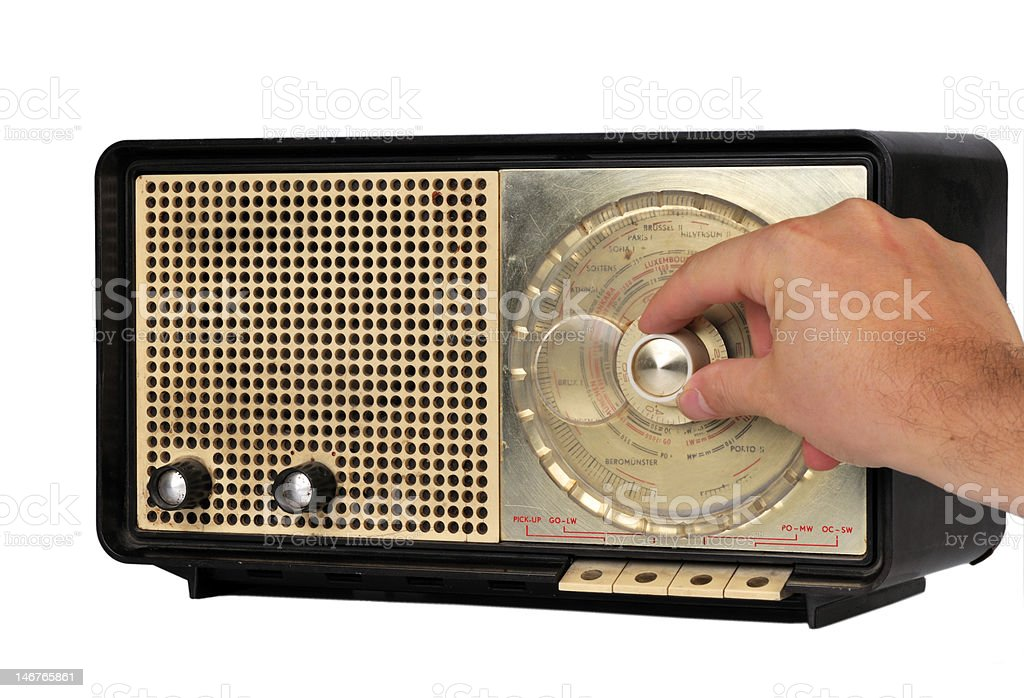 old fashioned radio stock photo