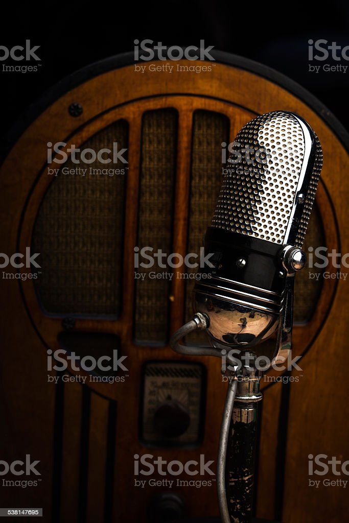 Old Fashioned Radio Studio stock photo