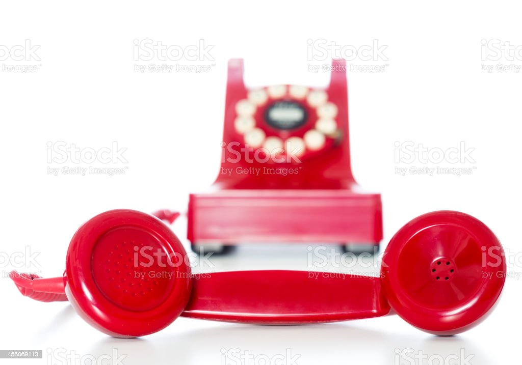 Old Fashioned Red Telephone royalty-free stock photo