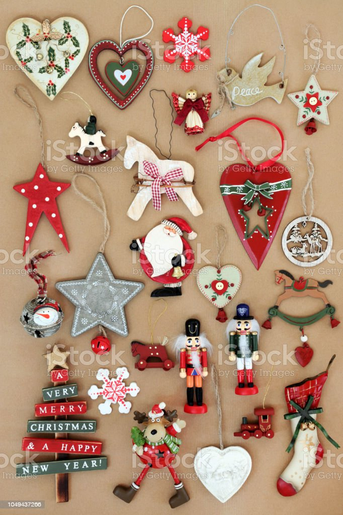 Old Fashioned Retro Christmas Decorations Stock Photo Download Image Now Istock