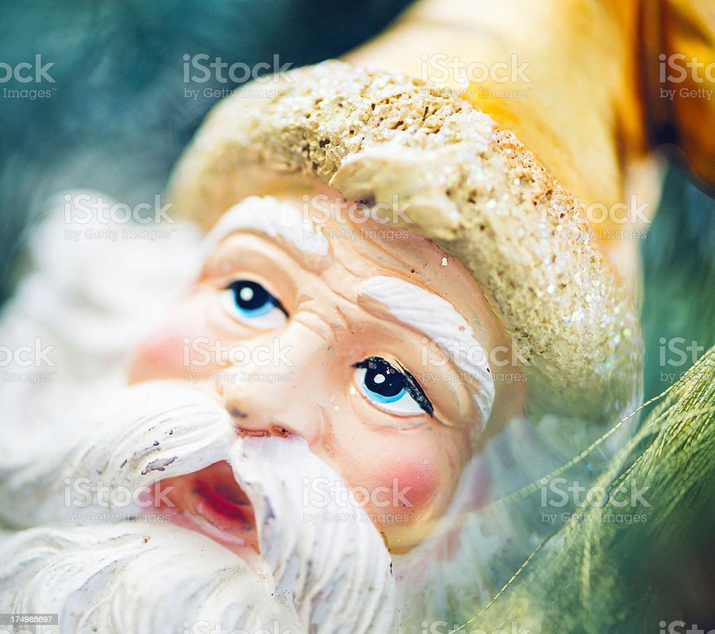 Old Fashioned Santa Ornament on Tree royalty-free stock photo