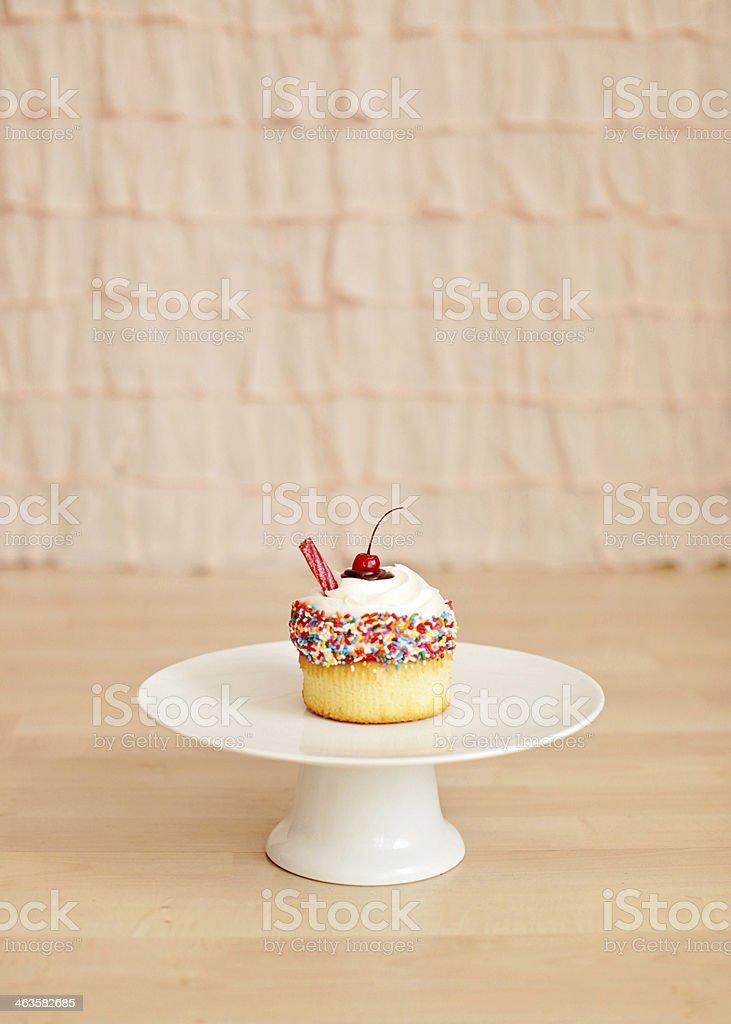 Old fashioned Shake cupcake stock photo