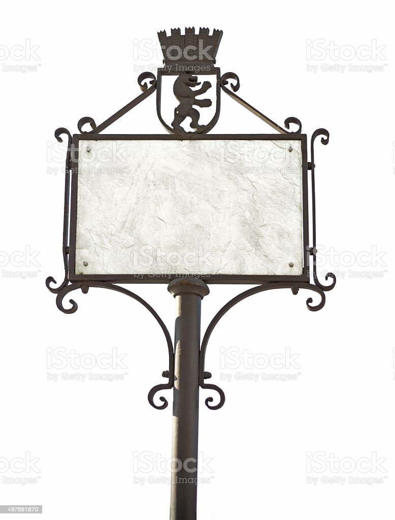 old fashioned signpost stock photo