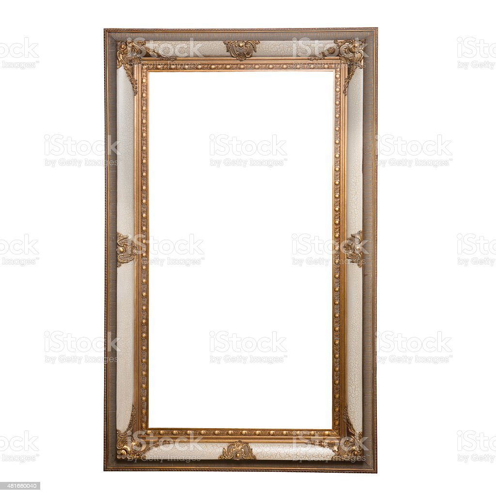 Old Fashioned Square Mirror Or Painting Frame Stock Photo & More ...