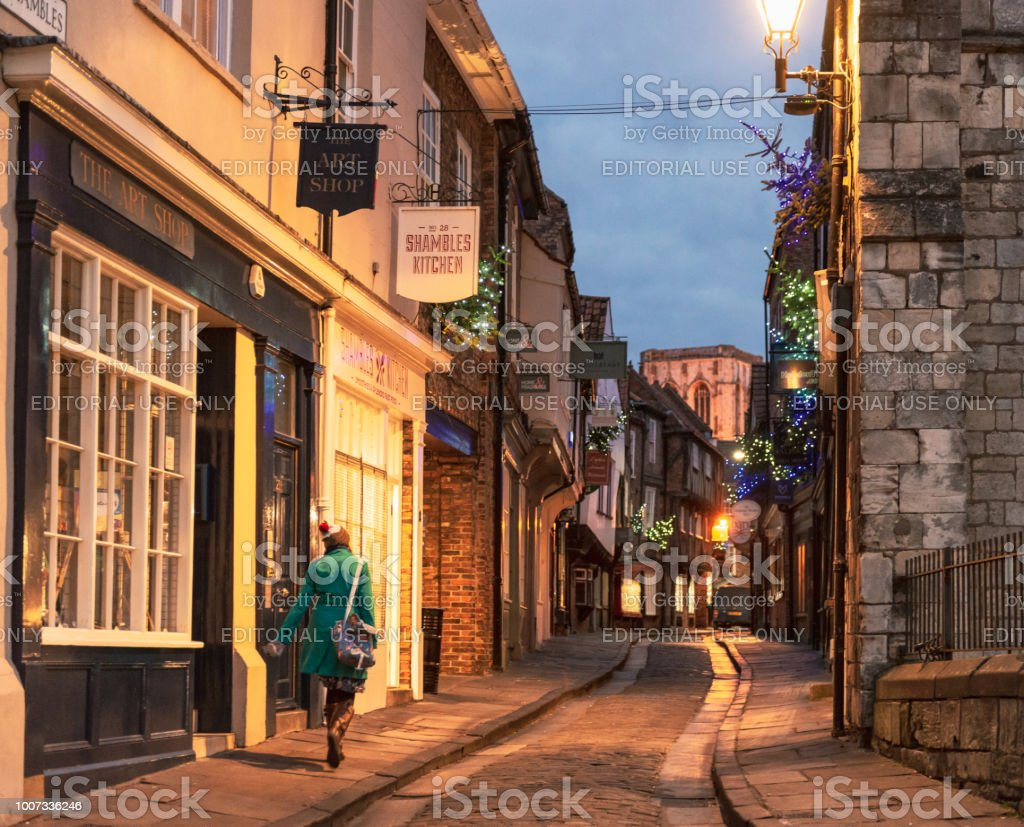 Old fashioned streets of York - fotografia de stock