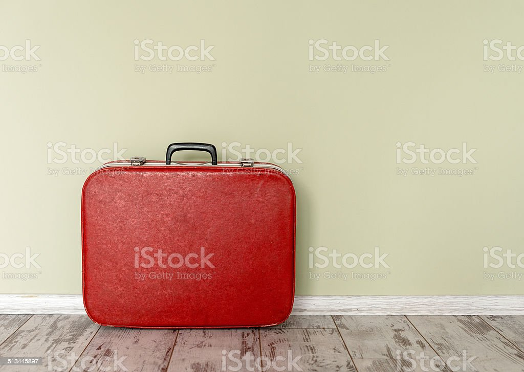 Old fashioned suitcase stock photo