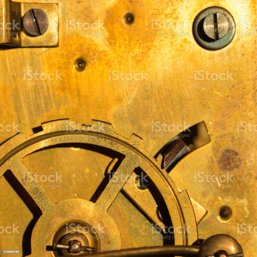 Old fashioned swiss automatic clockwork stock photo