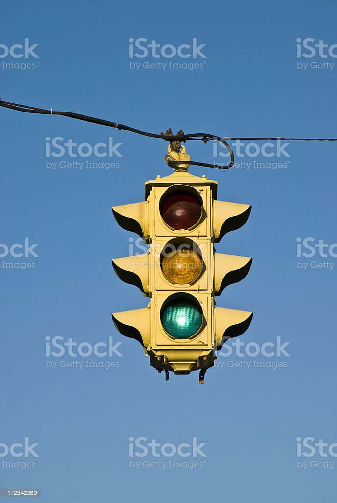 Old Fashioned Traffic Light royalty-free stock photo
