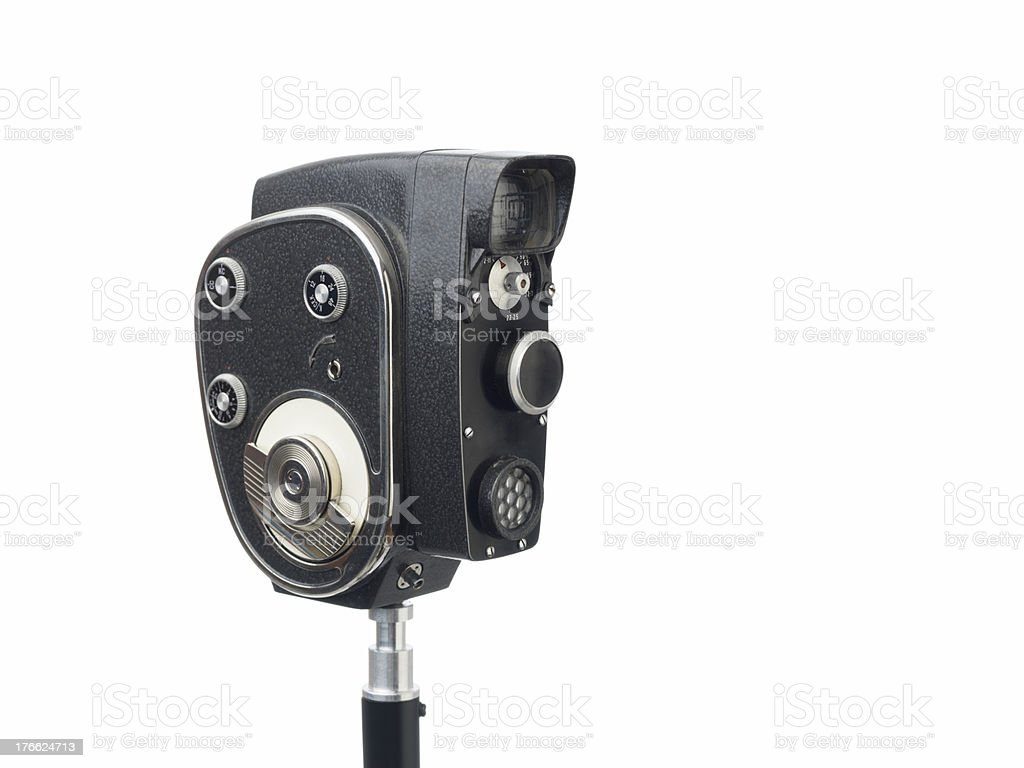 Old Fashioned Video Camera On White Background Stock Photo