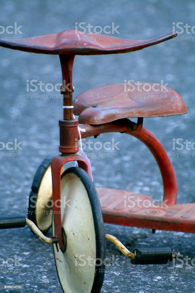 Old Fashioned Vintage Kids Tricycle On Asphalt At Flea Market Stock Photo Download Image Now Istock