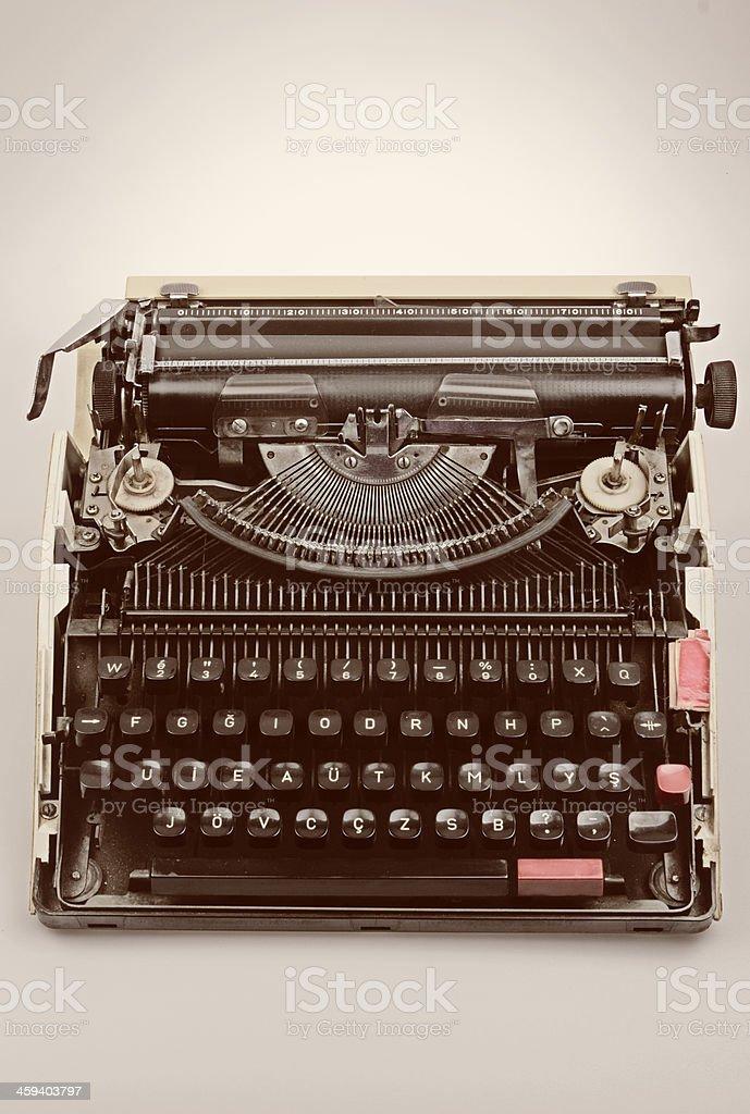 Old fashioned vintage typewriter royalty-free stock photo