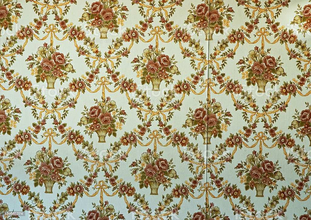 Old Fashioned Wallpaper Stock Photo & More Pictures Of