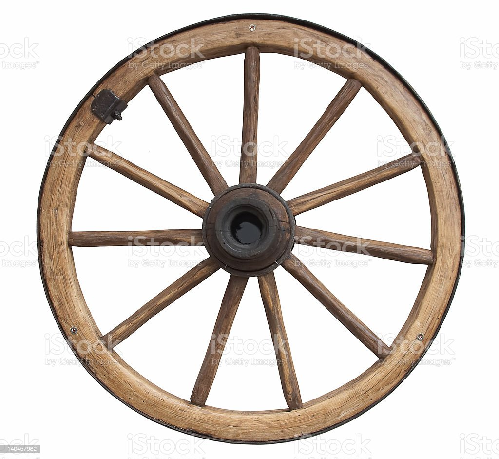 Old fashioned wheel stock photo