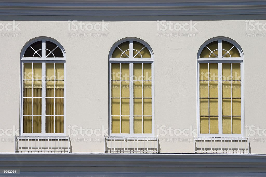 Old Fashioned Windows royalty-free stock photo