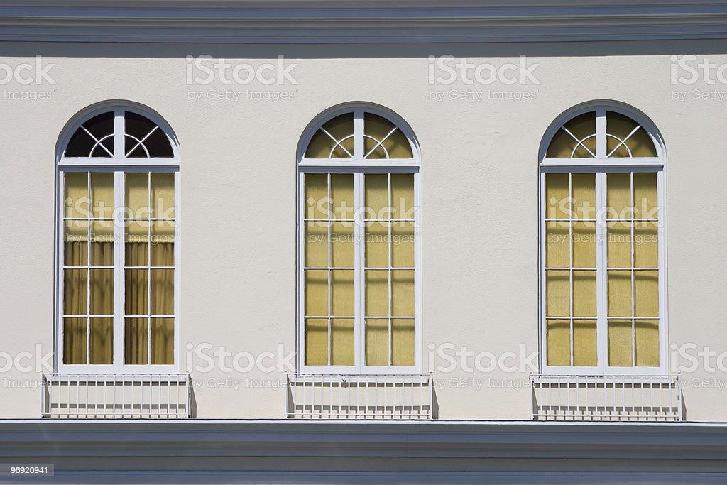 Old Fashioned Windows stock photo